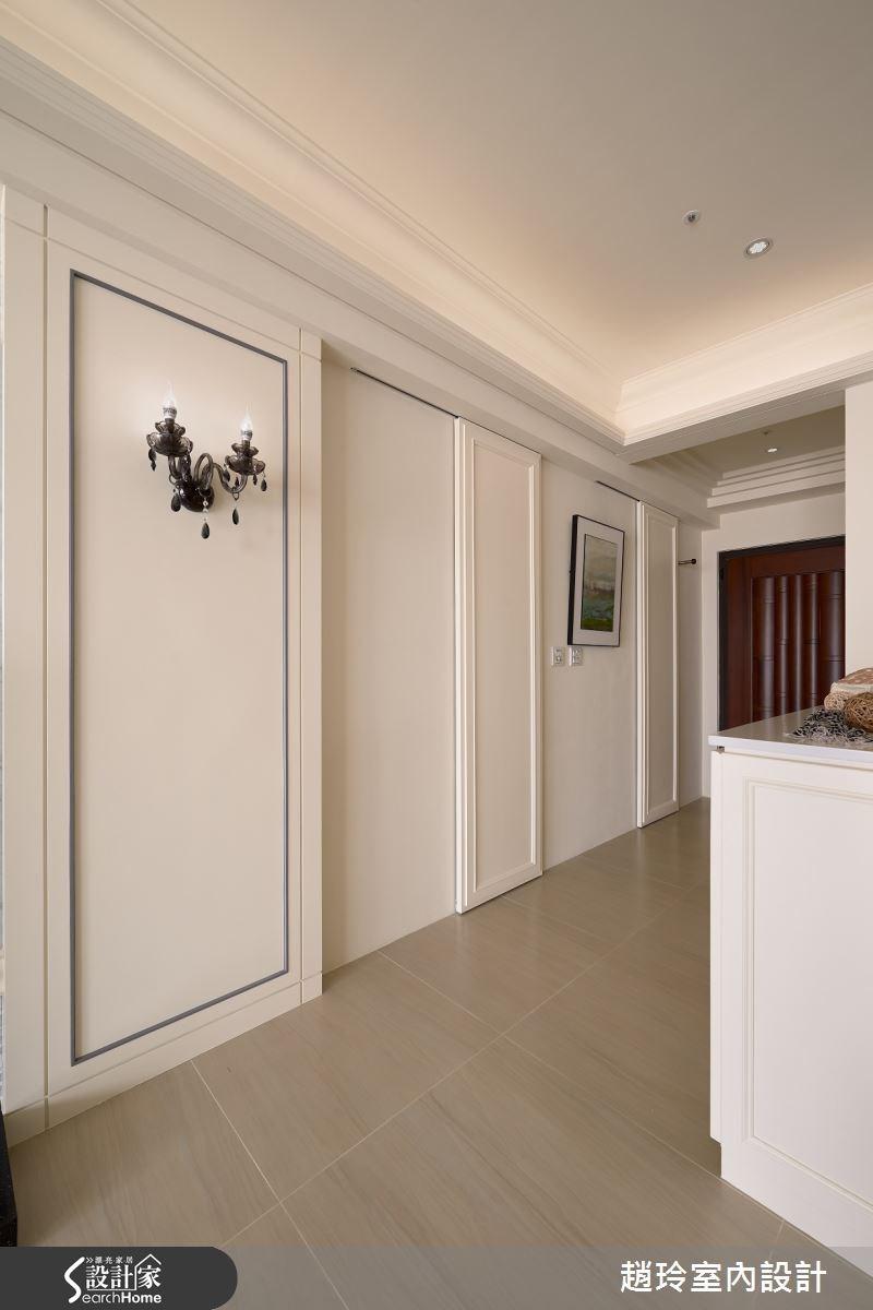 40坪新成屋(5年以下)_新古典走廊案例圖片_趙玲室內設計有限公司_趙玲_21之2