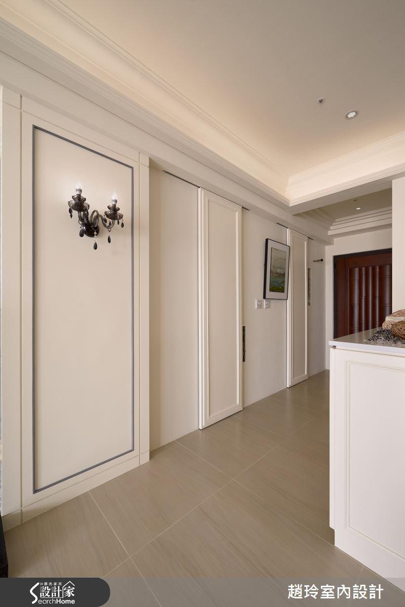 40坪新成屋(5年以下)_新古典走廊案例圖片_趙玲室內設計有限公司_趙玲_21之3