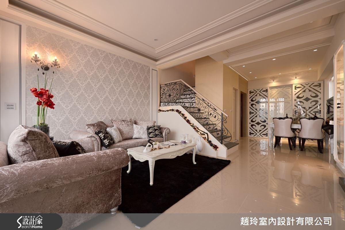 85坪新成屋(5年以下)_新古典客廳樓梯案例圖片_趙玲室內設計有限公司_趙玲_22之1