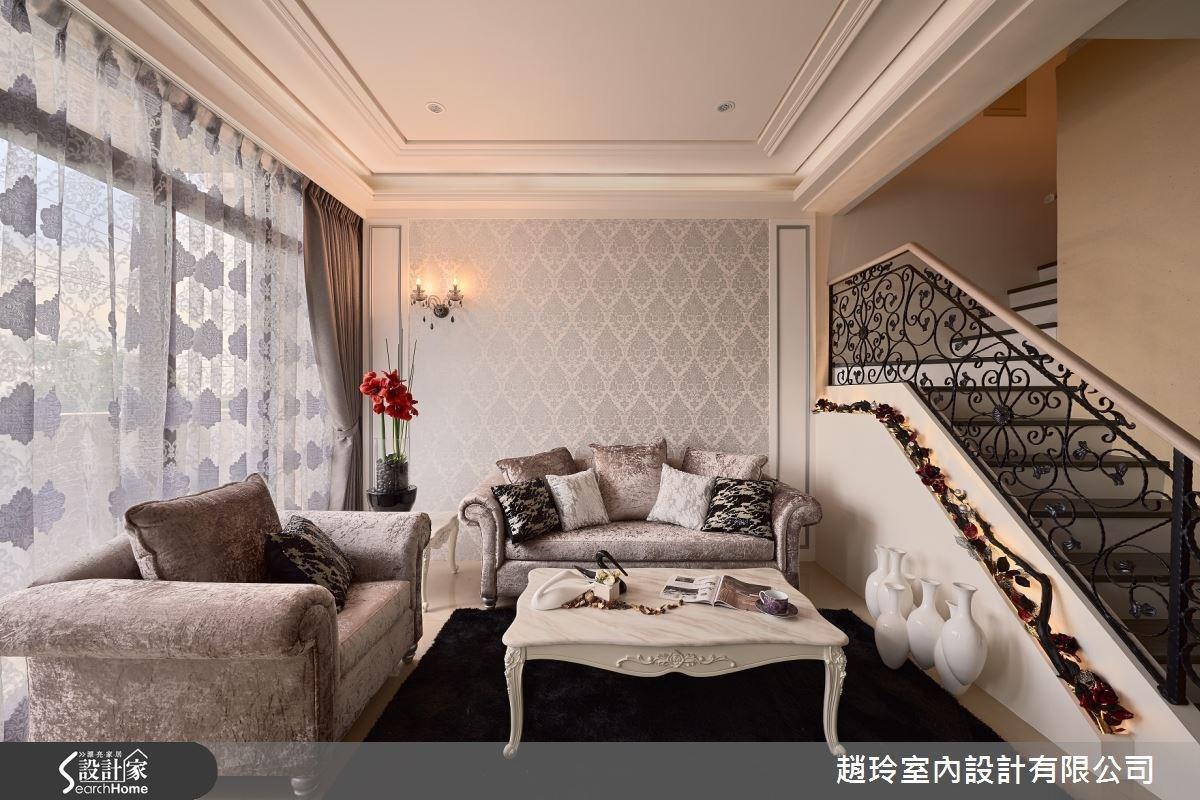 85坪新成屋(5年以下)_新古典客廳樓梯案例圖片_趙玲室內設計有限公司_趙玲_22之2
