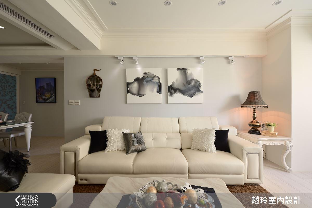 60坪中古屋(5~15年)_新古典客廳案例圖片_趙玲室內設計有限公司_趙玲_24之3