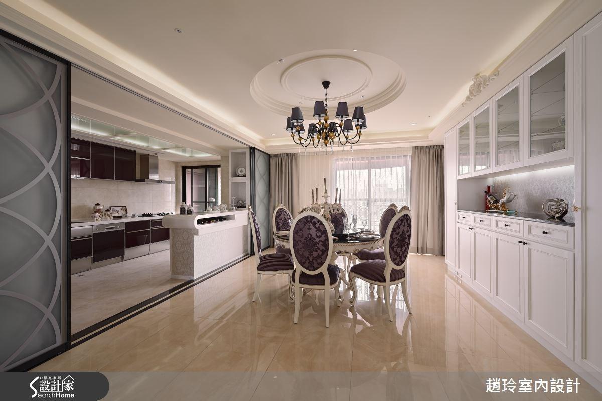 90坪新成屋(5年以下)_新古典餐廳廚房案例圖片_趙玲室內設計有限公司_趙玲_26之6