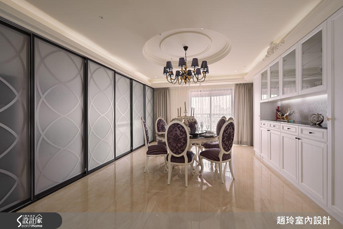 90坪新成屋(5年以下)_新古典餐廳案例圖片_趙玲室內設計有限公司_趙玲_26之7