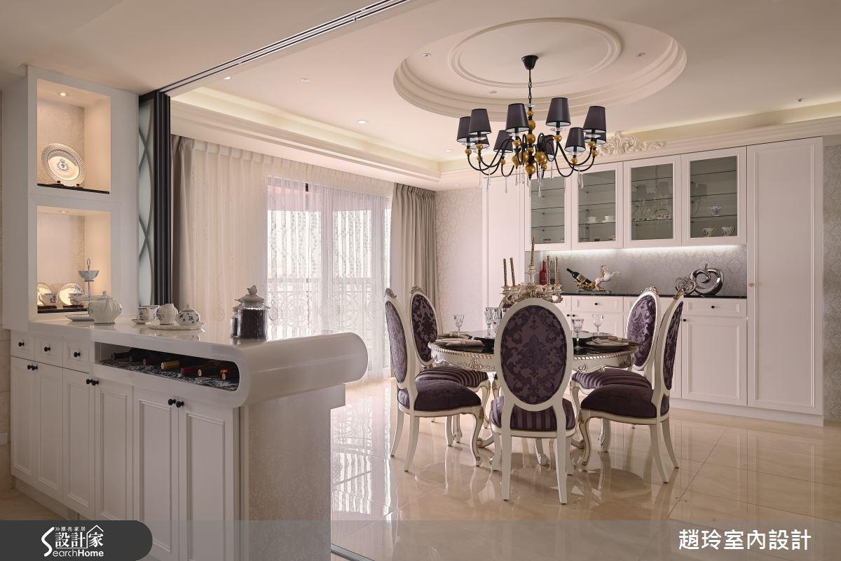 90坪新成屋(5年以下)_新古典餐廳案例圖片_趙玲室內設計有限公司_趙玲_26之8