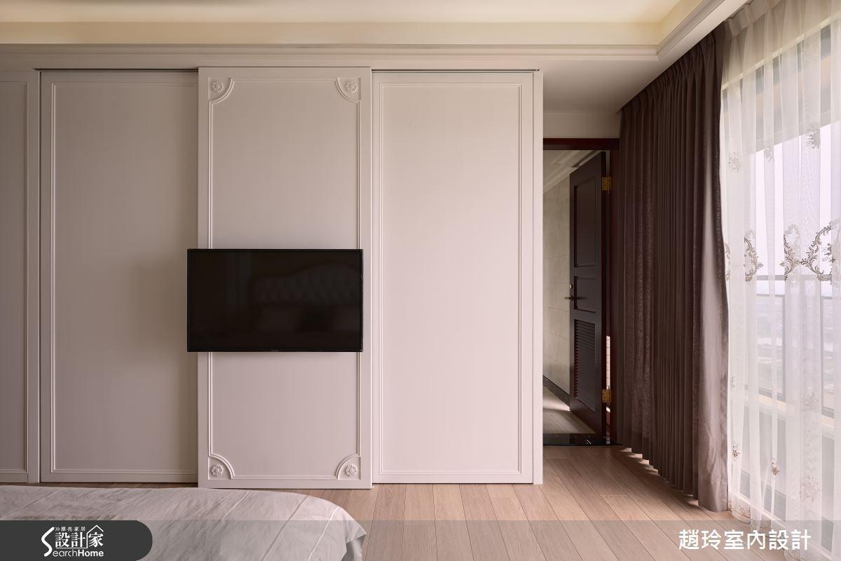 90坪新成屋(5年以下)_新古典臥室案例圖片_趙玲室內設計有限公司_趙玲_26之11