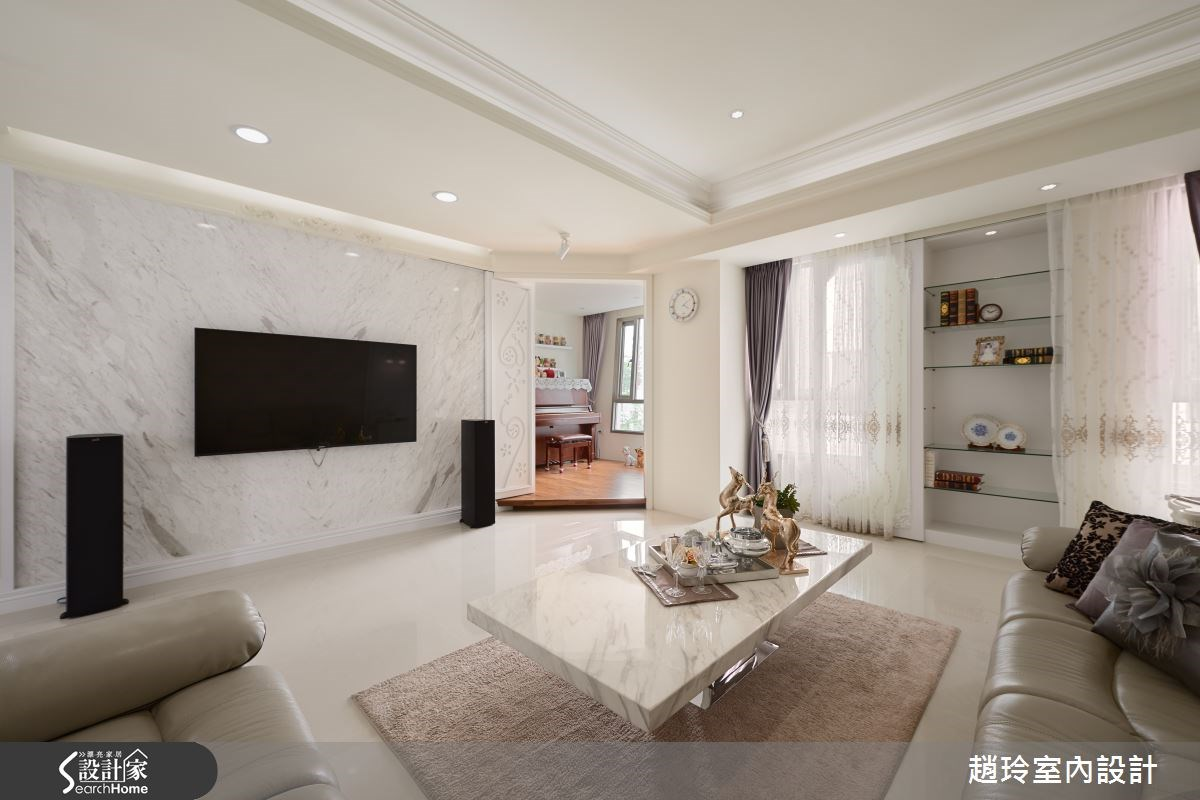 80坪新成屋(5年以下)_新古典客廳案例圖片_趙玲室內設計有限公司_趙玲_29之2
