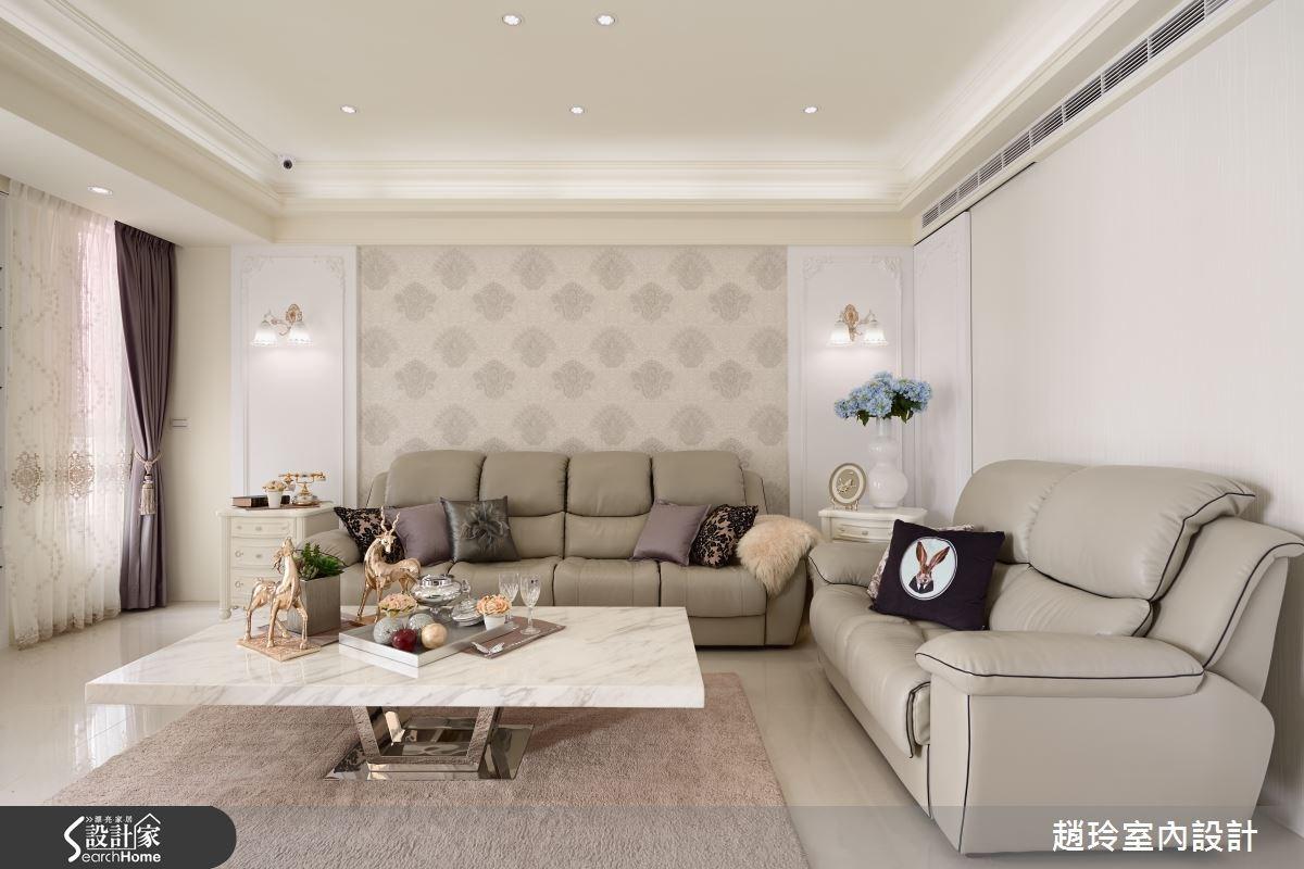 80坪新成屋(5年以下)_新古典客廳案例圖片_趙玲室內設計有限公司_趙玲_29之3
