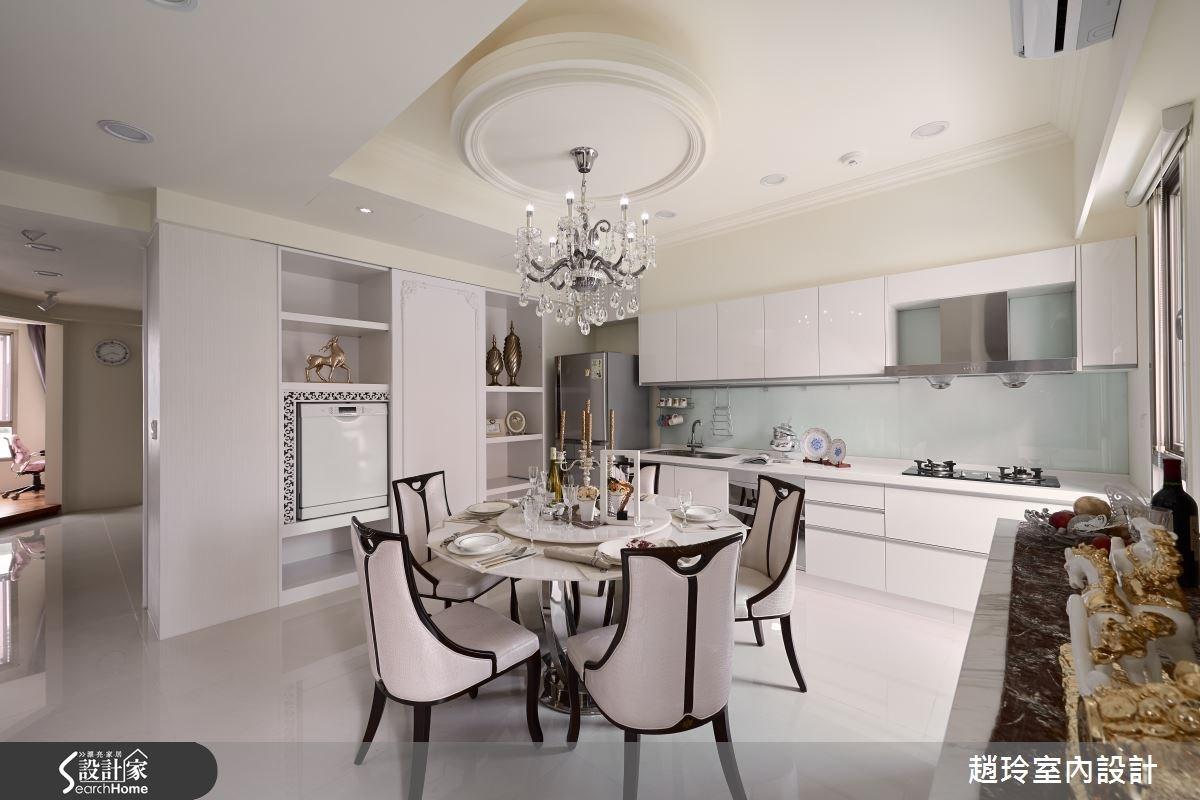 80坪新成屋(5年以下)_新古典餐廳廚房案例圖片_趙玲室內設計有限公司_趙玲_29之4