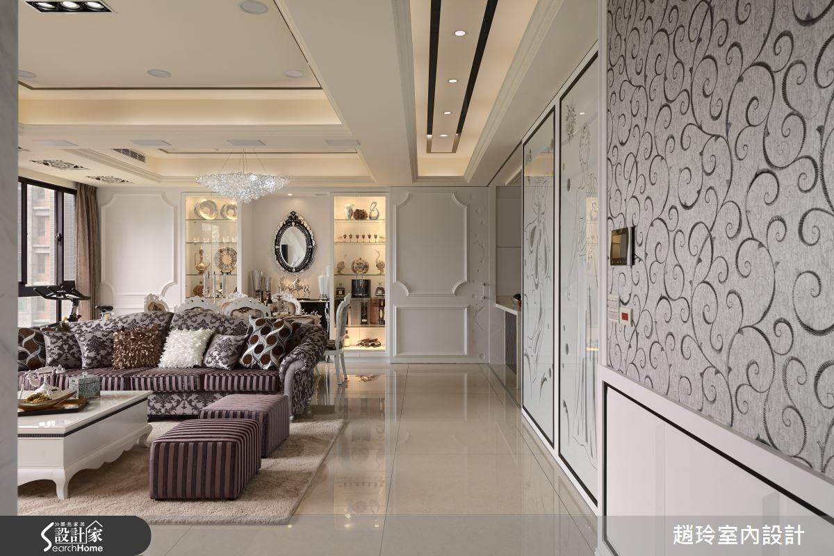 60坪新成屋(5年以下)_新古典客廳案例圖片_趙玲室內設計有限公司_趙玲_30之2