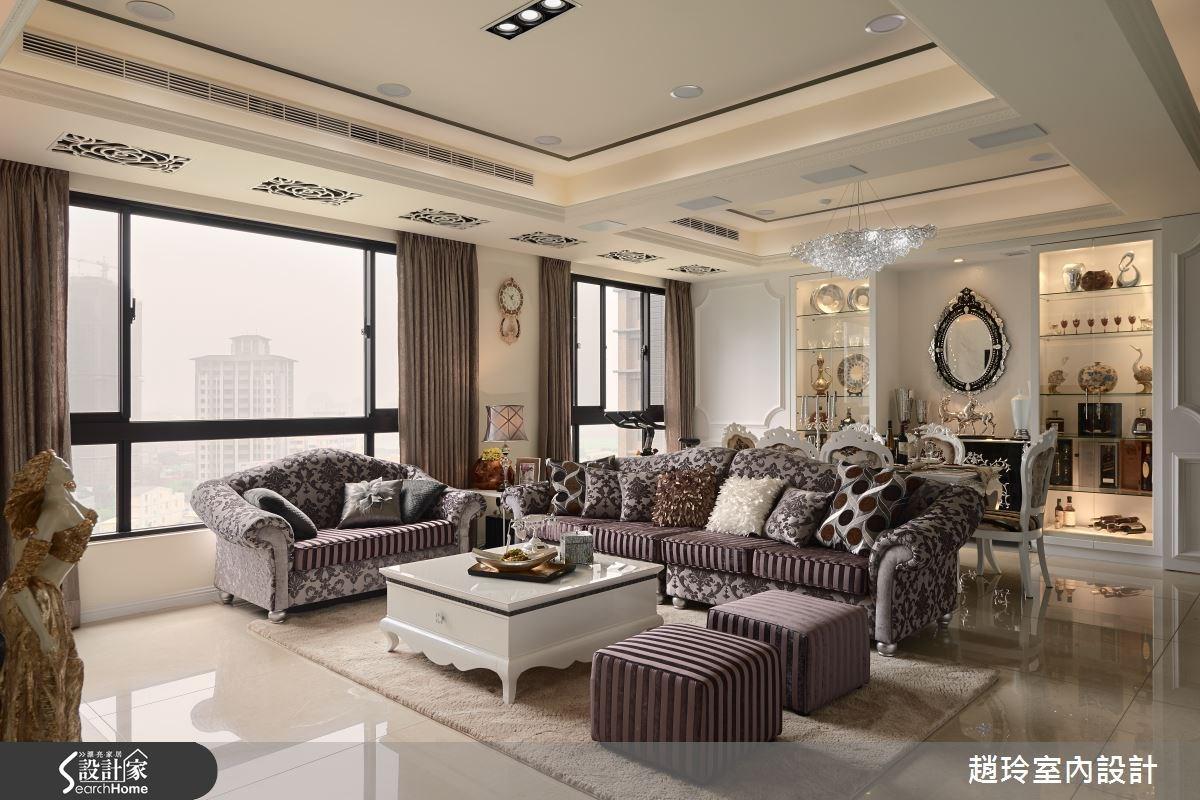 60坪新成屋(5年以下)_新古典客廳案例圖片_趙玲室內設計有限公司_趙玲_30之3
