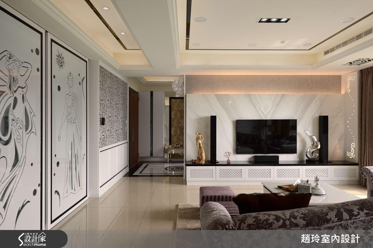 60坪新成屋(5年以下)_新古典玄關客廳案例圖片_趙玲室內設計有限公司_趙玲_30之4