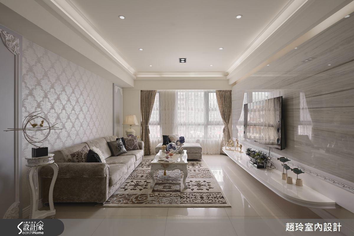40坪新成屋(5年以下)_新古典客廳案例圖片_趙玲室內設計有限公司_趙玲_31之2