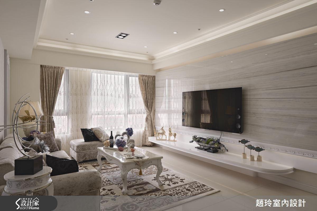 40坪新成屋(5年以下)_新古典客廳案例圖片_趙玲室內設計有限公司_趙玲_31之3