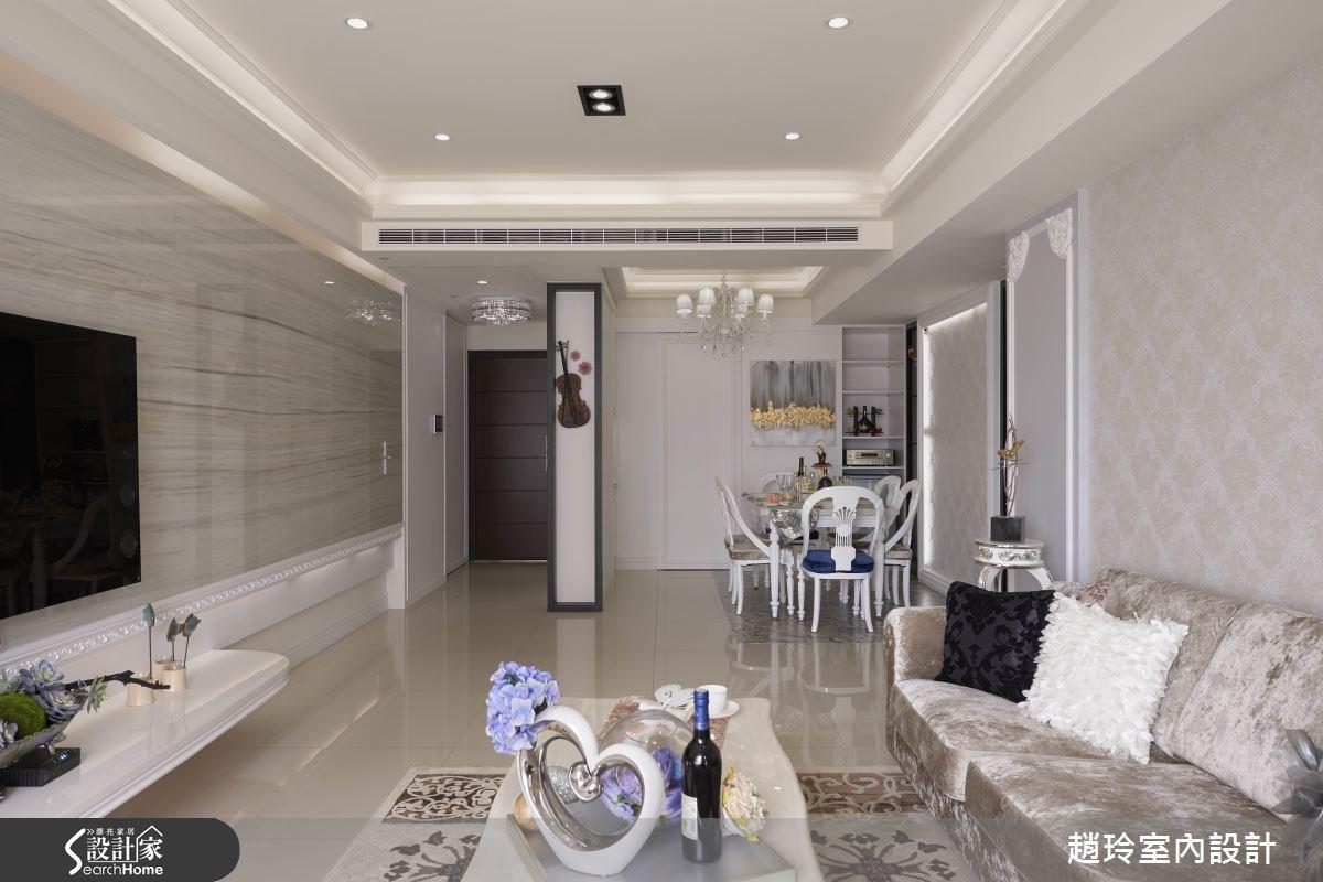 40坪新成屋(5年以下)_新古典玄關客廳餐廳案例圖片_趙玲室內設計有限公司_趙玲_31之4