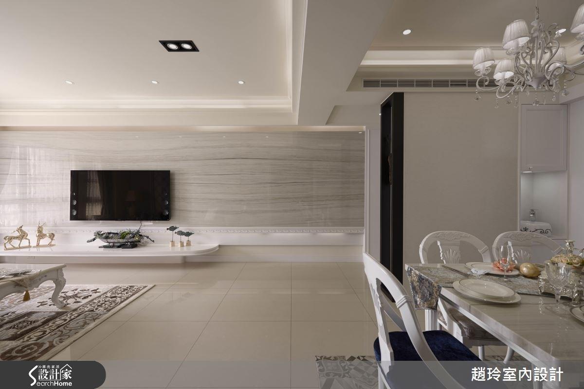 40坪新成屋(5年以下)_新古典客廳餐廳走廊案例圖片_趙玲室內設計有限公司_趙玲_31之5