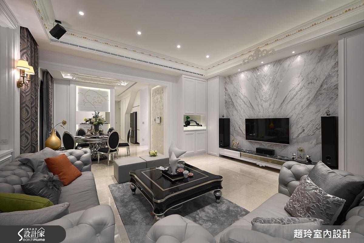 85坪_新古典客廳餐廳案例圖片_趙玲室內設計有限公司_趙玲_32之2
