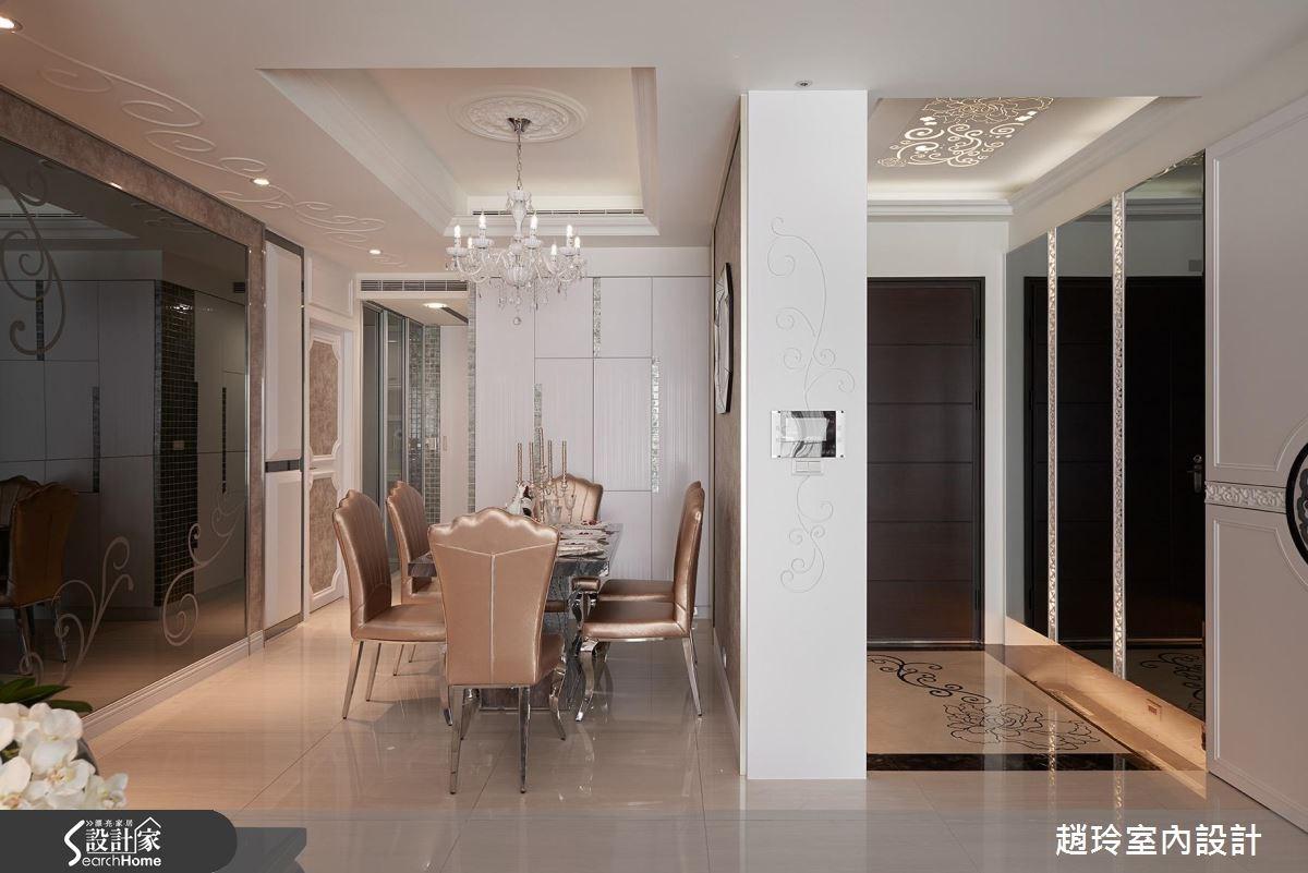 75坪新成屋(5年以下)_新古典玄關餐廳案例圖片_趙玲室內設計有限公司_趙玲_33之3
