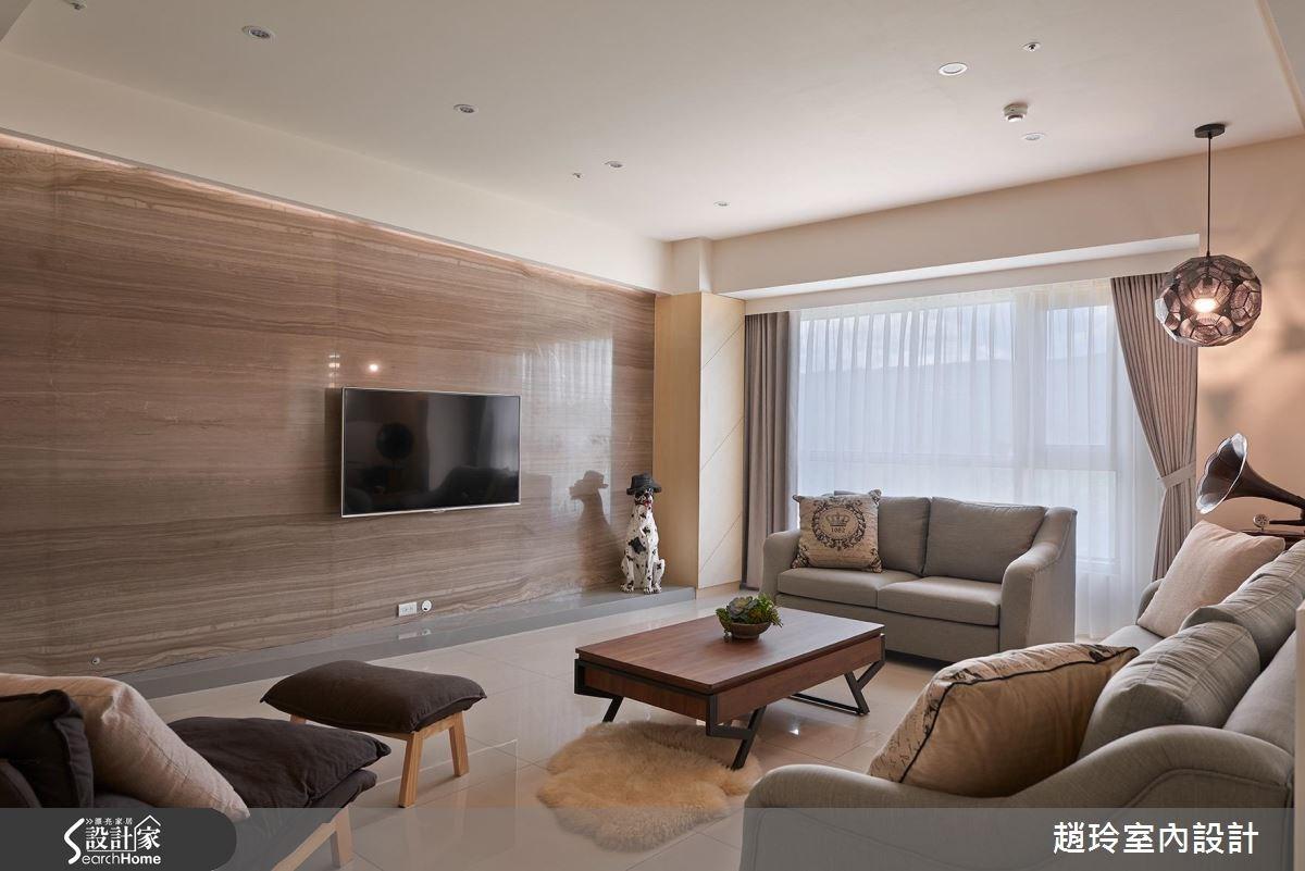 72坪新成屋(5年以下)_簡約風客廳案例圖片_趙玲室內設計有限公司_趙玲_34之2