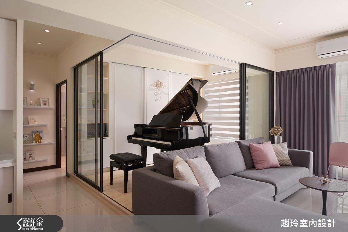 35坪新成屋(5年以下)_現代風客廳案例圖片_趙玲室內設計有限公司_趙玲_35之1