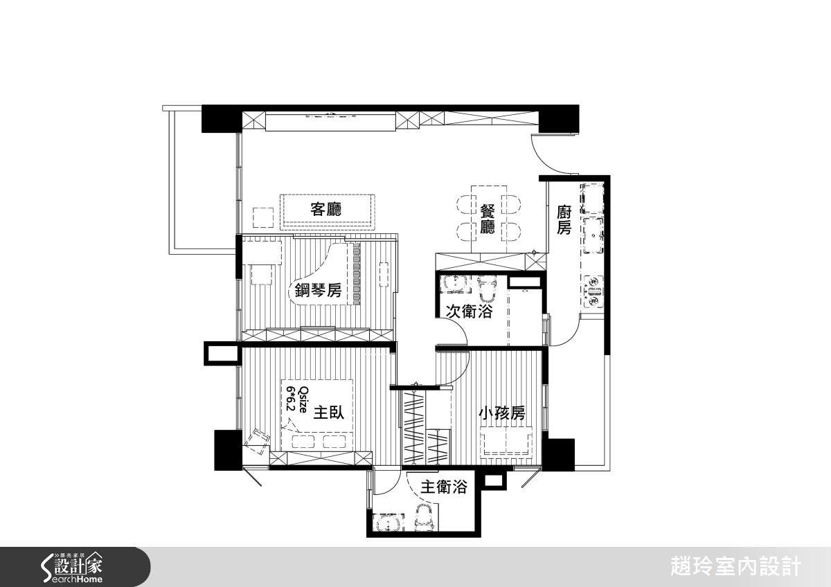 35坪新成屋(5年以下)_現代風案例圖片_趙玲室內設計有限公司_趙玲_35之12