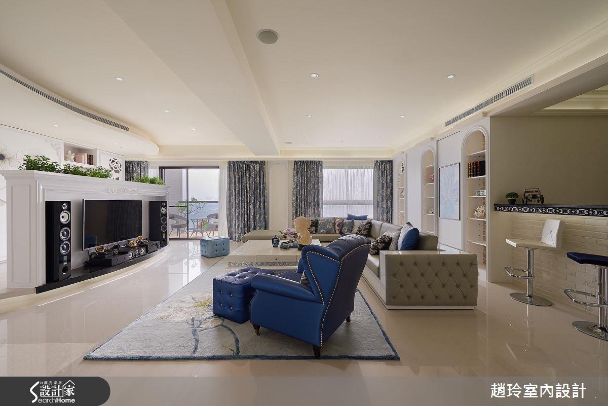 118坪新成屋(5年以下)_新古典客廳臥室案例圖片_趙玲室內設計有限公司_趙玲_36之3
