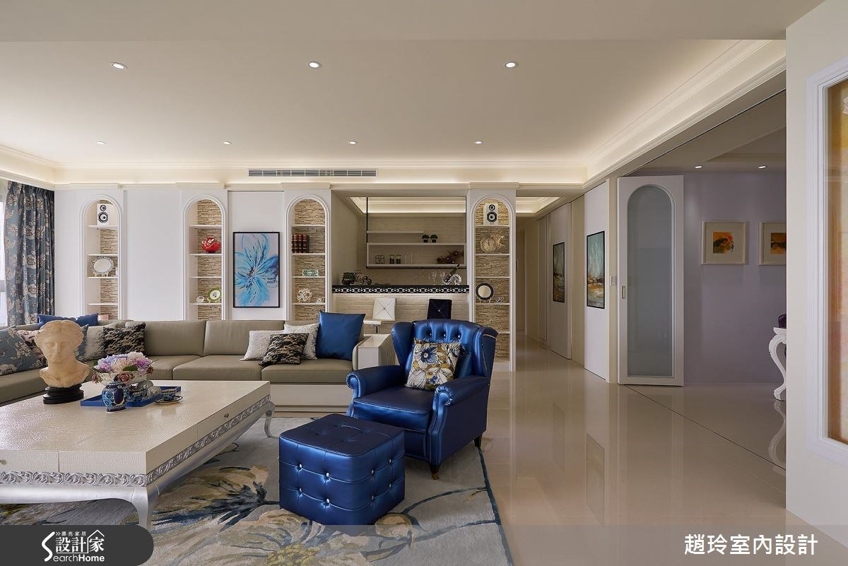 118坪新成屋(5年以下)_新古典客廳案例圖片_趙玲室內設計有限公司_趙玲_36之4