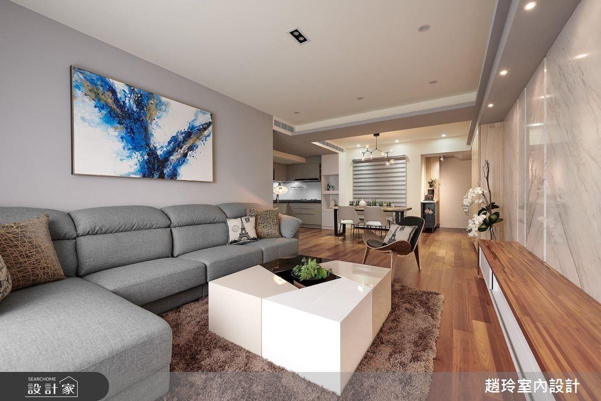 53坪新成屋(5年以下)_日式無印風客廳案例圖片_趙玲室內設計有限公司_趙玲_47之1