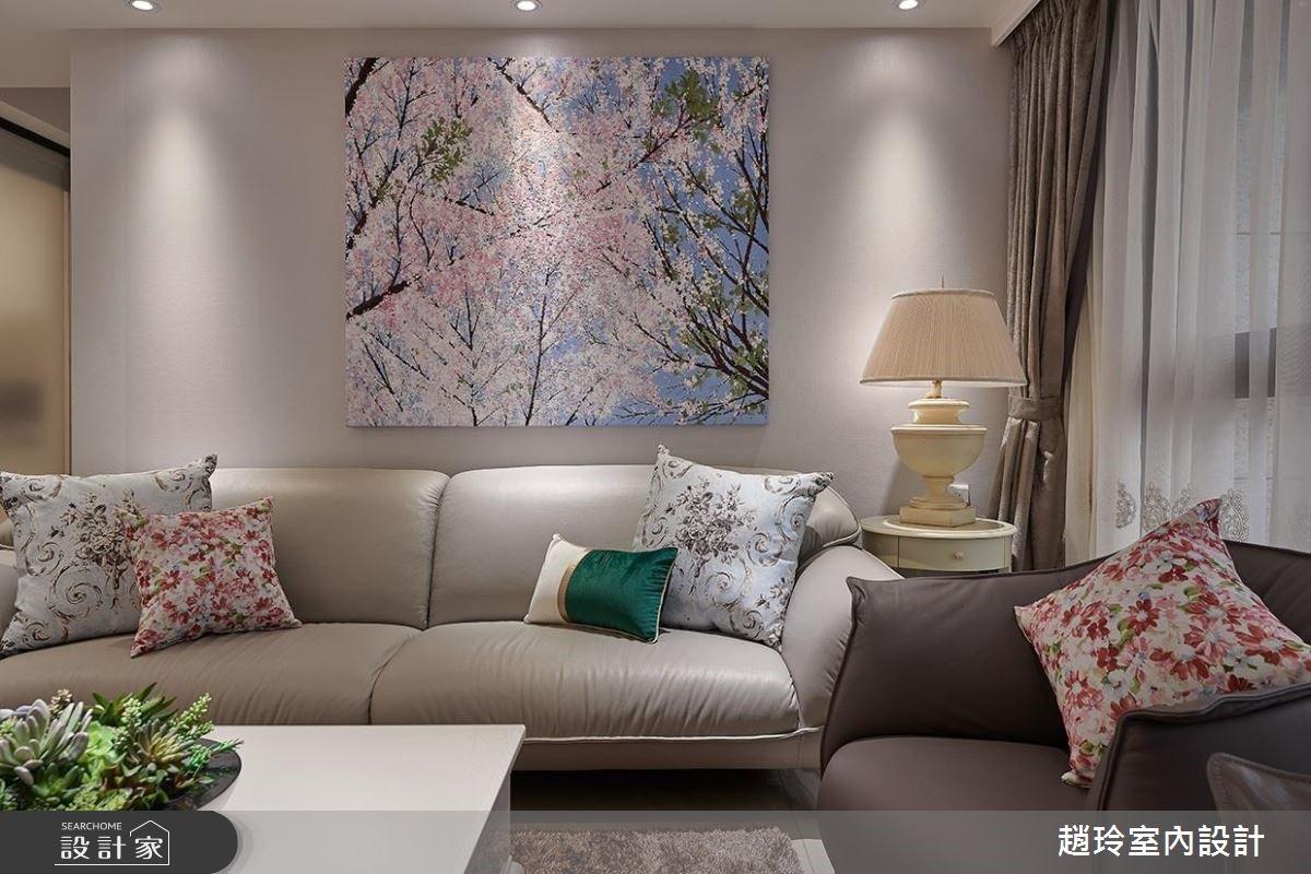 48坪新成屋(5年以下)_新古典客廳案例圖片_趙玲室內設計有限公司_趙玲_48之4