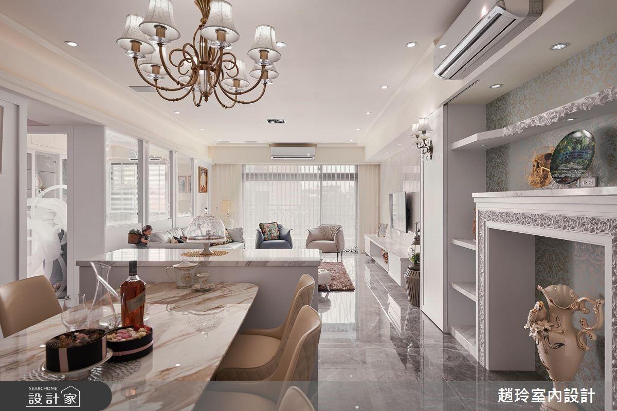 72坪新成屋(5年以下)_新古典餐廳案例圖片_趙玲室內設計有限公司_趙玲_49之1
