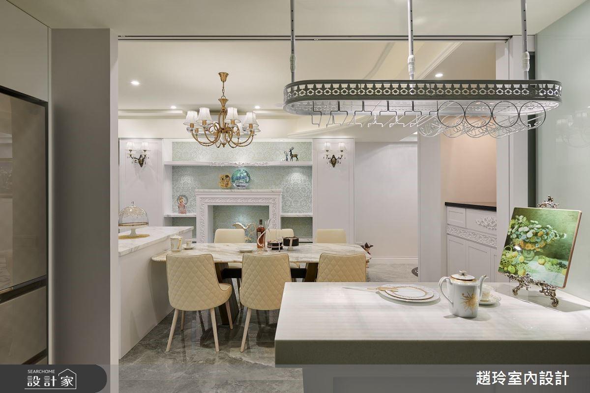 72坪新成屋(5年以下)_新古典餐廳案例圖片_趙玲室內設計有限公司_趙玲_49之14
