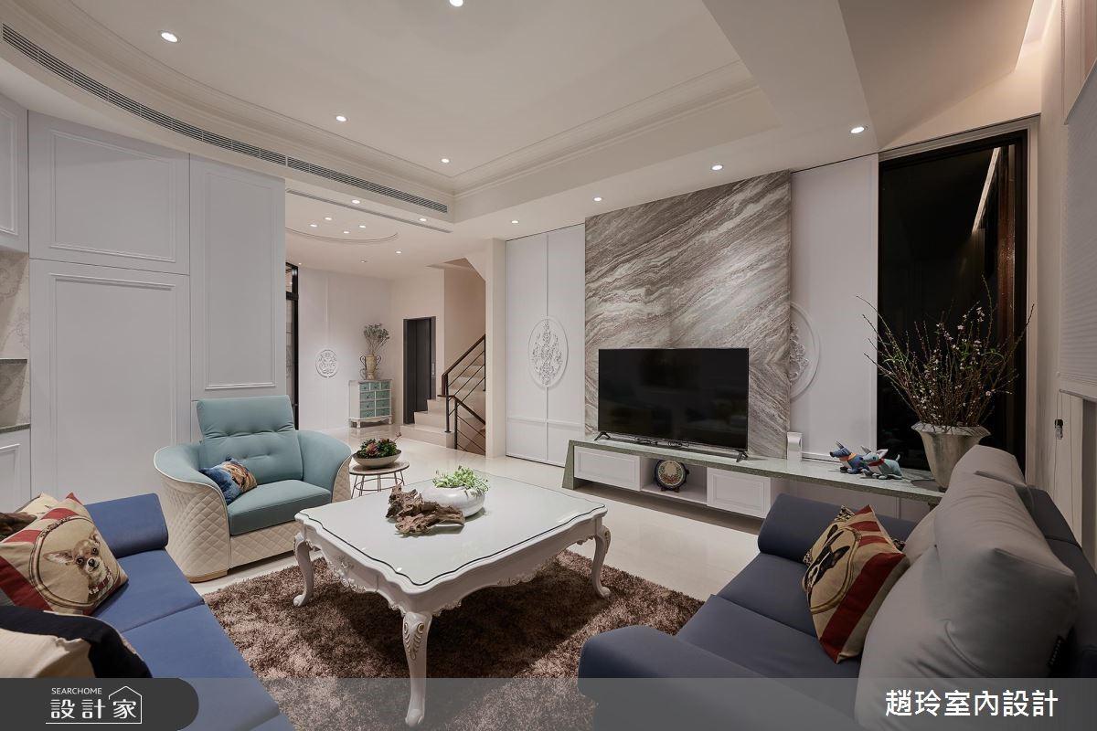 110坪新成屋(5年以下)_新古典客廳案例圖片_趙玲室內設計有限公司_趙玲_50之3