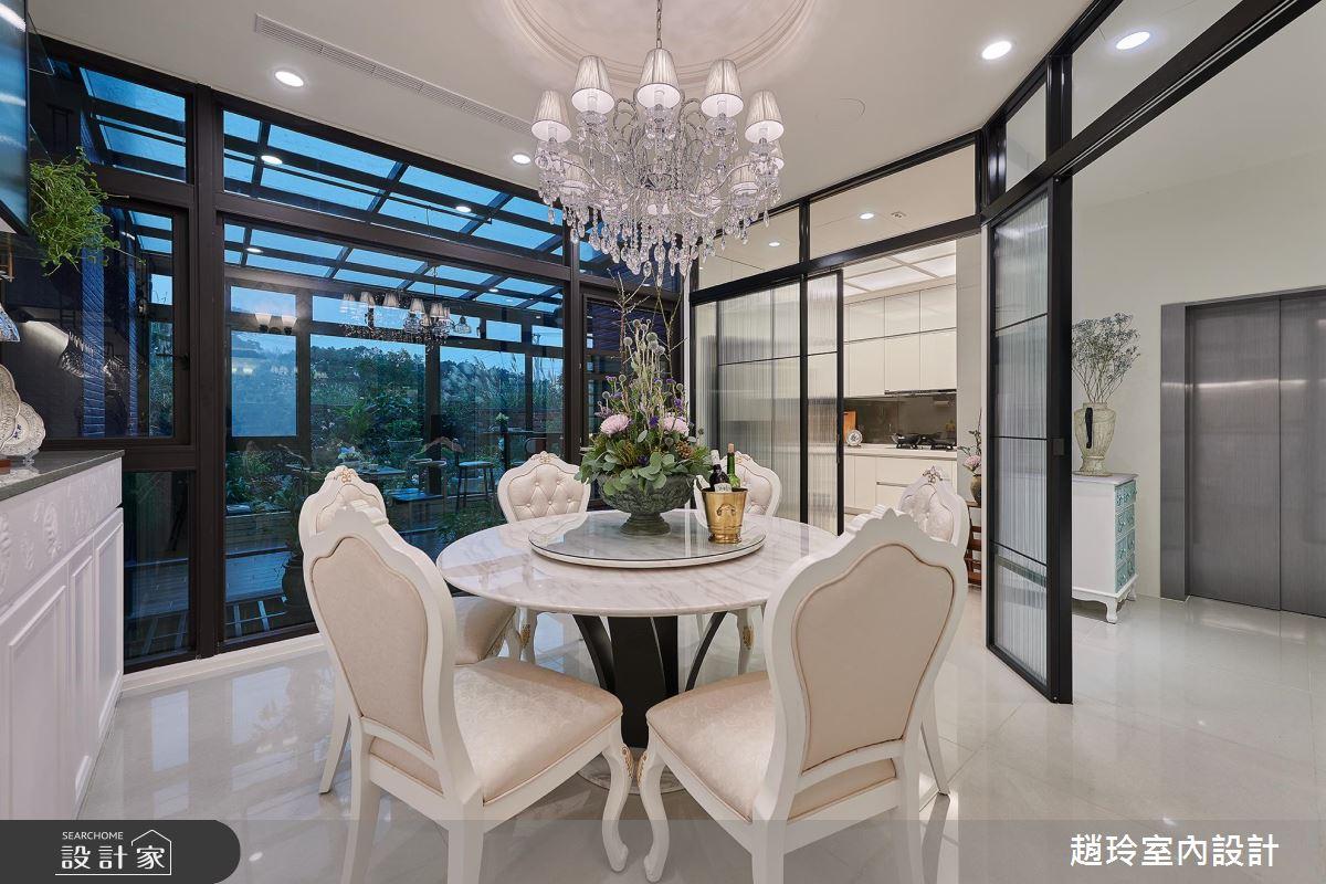 歐風小花園 X 花藝玻璃屋 量身打造的新古典風透天別墅