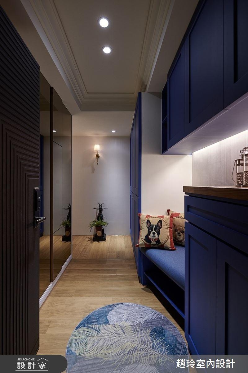 45坪新成屋(5年以下)_美式風玄關案例圖片_趙玲室內設計有限公司_趙玲_55之1
