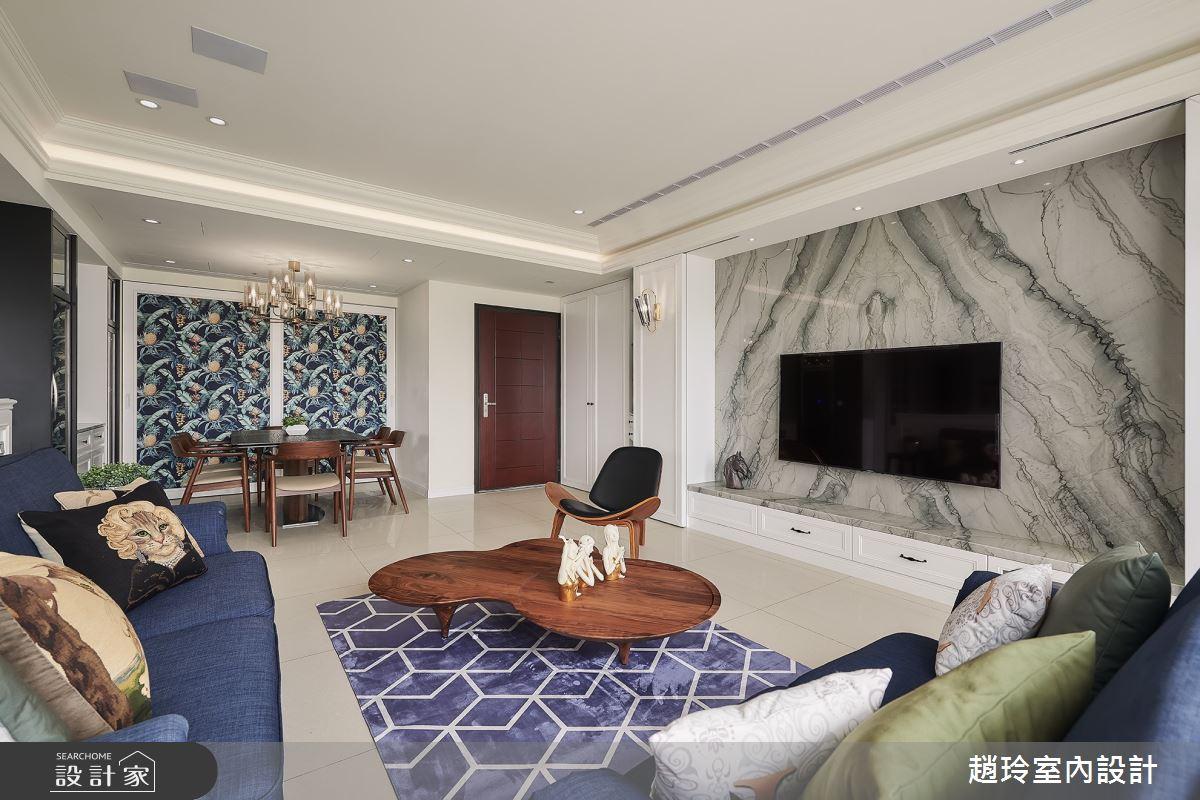 50坪新成屋(5年以下)_美式風客廳案例圖片_趙玲室內設計有限公司_趙玲_56之1