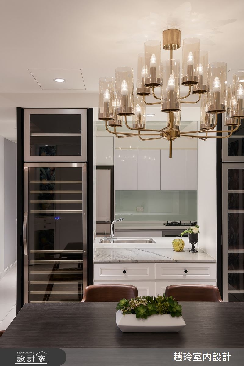 50坪新成屋(5年以下)_美式風廚房案例圖片_趙玲室內設計有限公司_趙玲_56之5