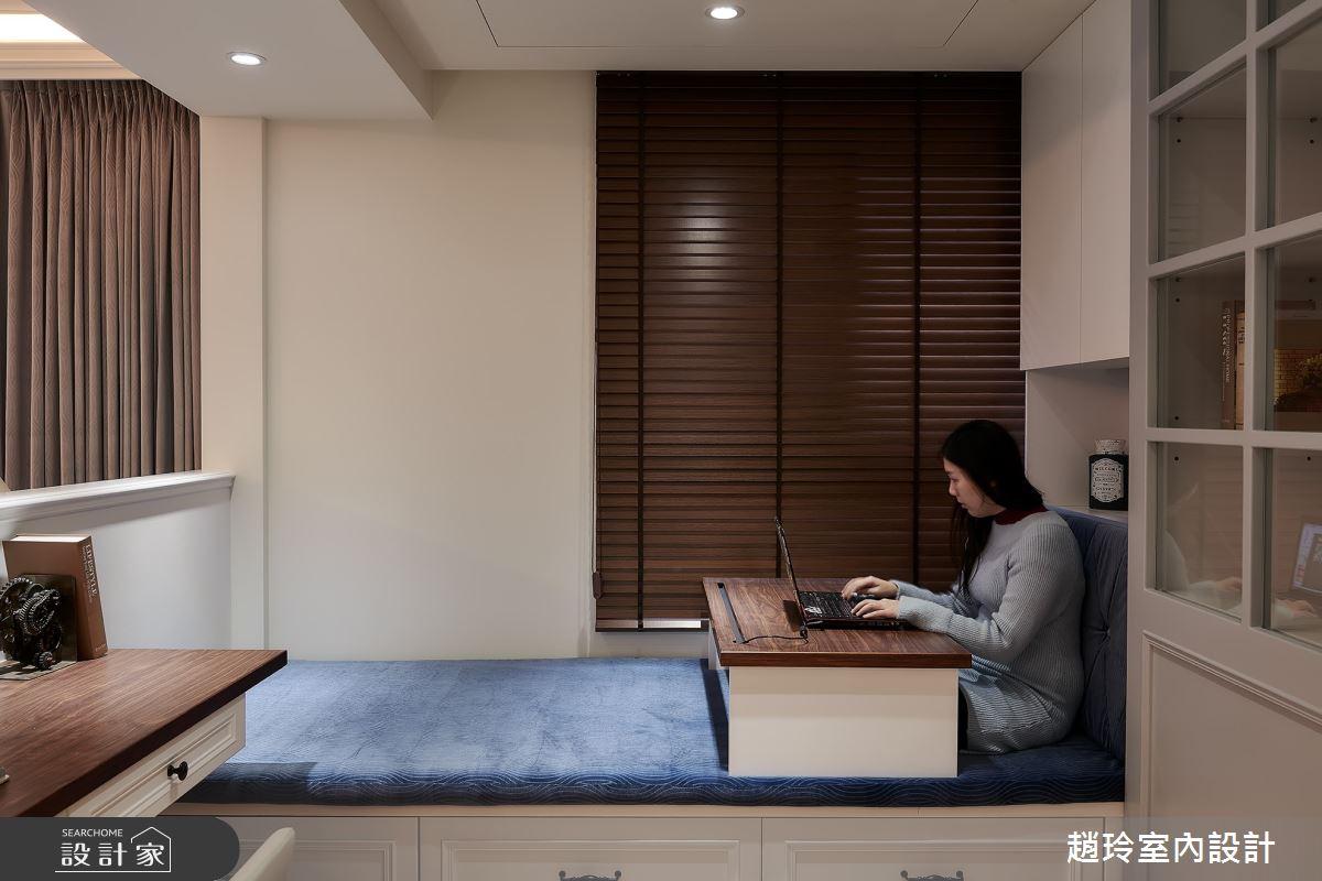 50坪新成屋(5年以下)_美式風書房臥榻案例圖片_趙玲室內設計有限公司_趙玲_56之8