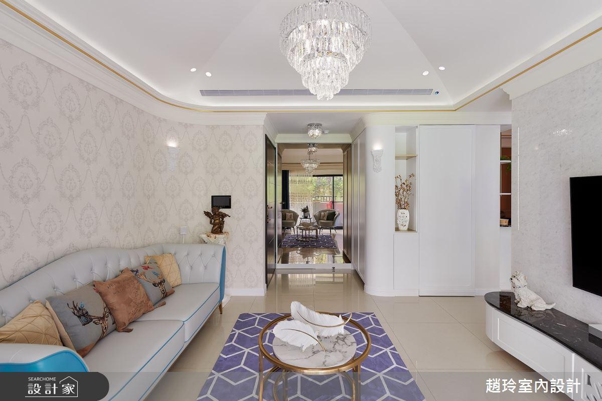 26坪新成屋(5年以下)_新古典客廳案例圖片_趙玲室內設計有限公司_趙玲_59之2