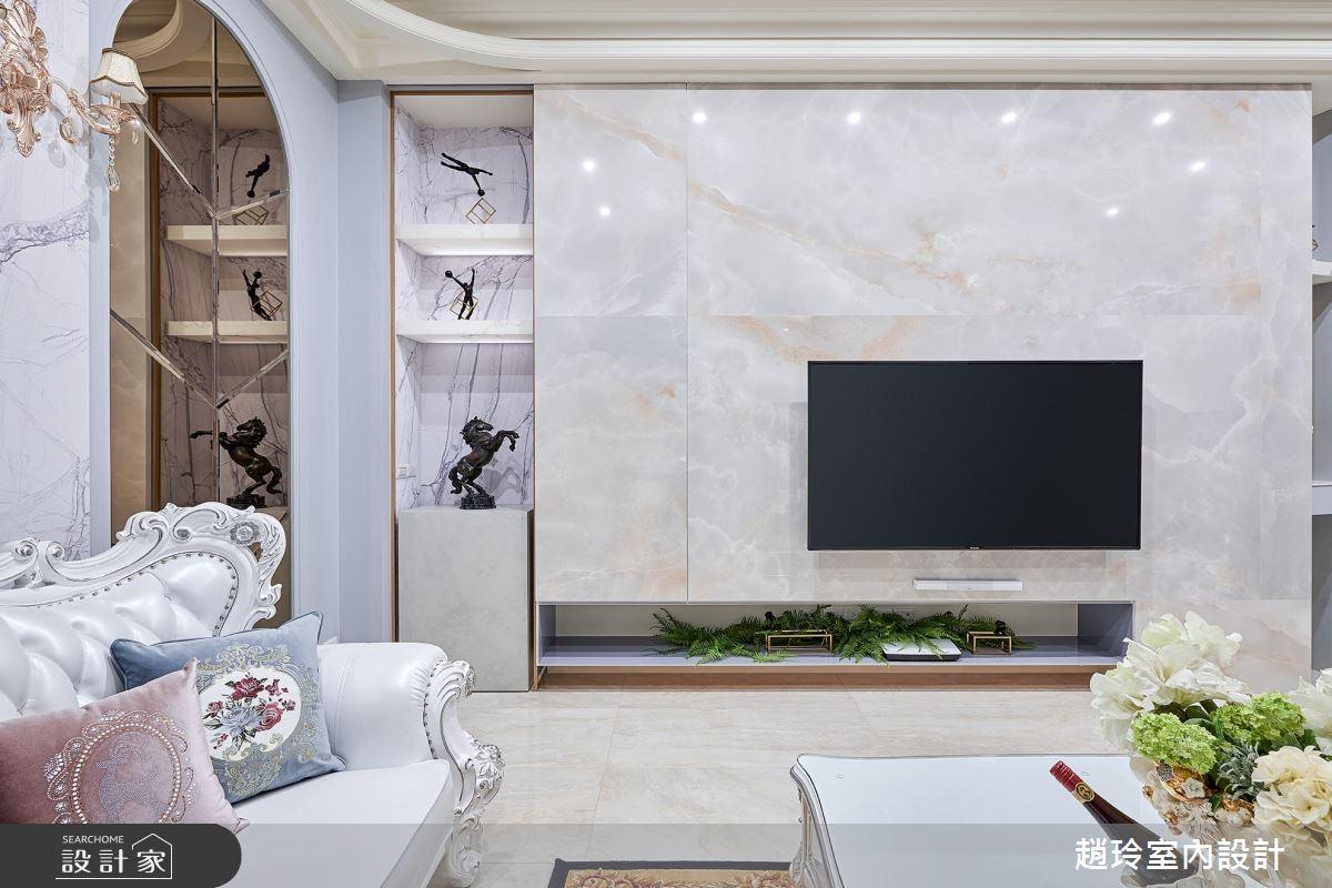 125坪新成屋(5年以下)_新古典客廳案例圖片_趙玲室內設計有限公司_趙玲_60之3