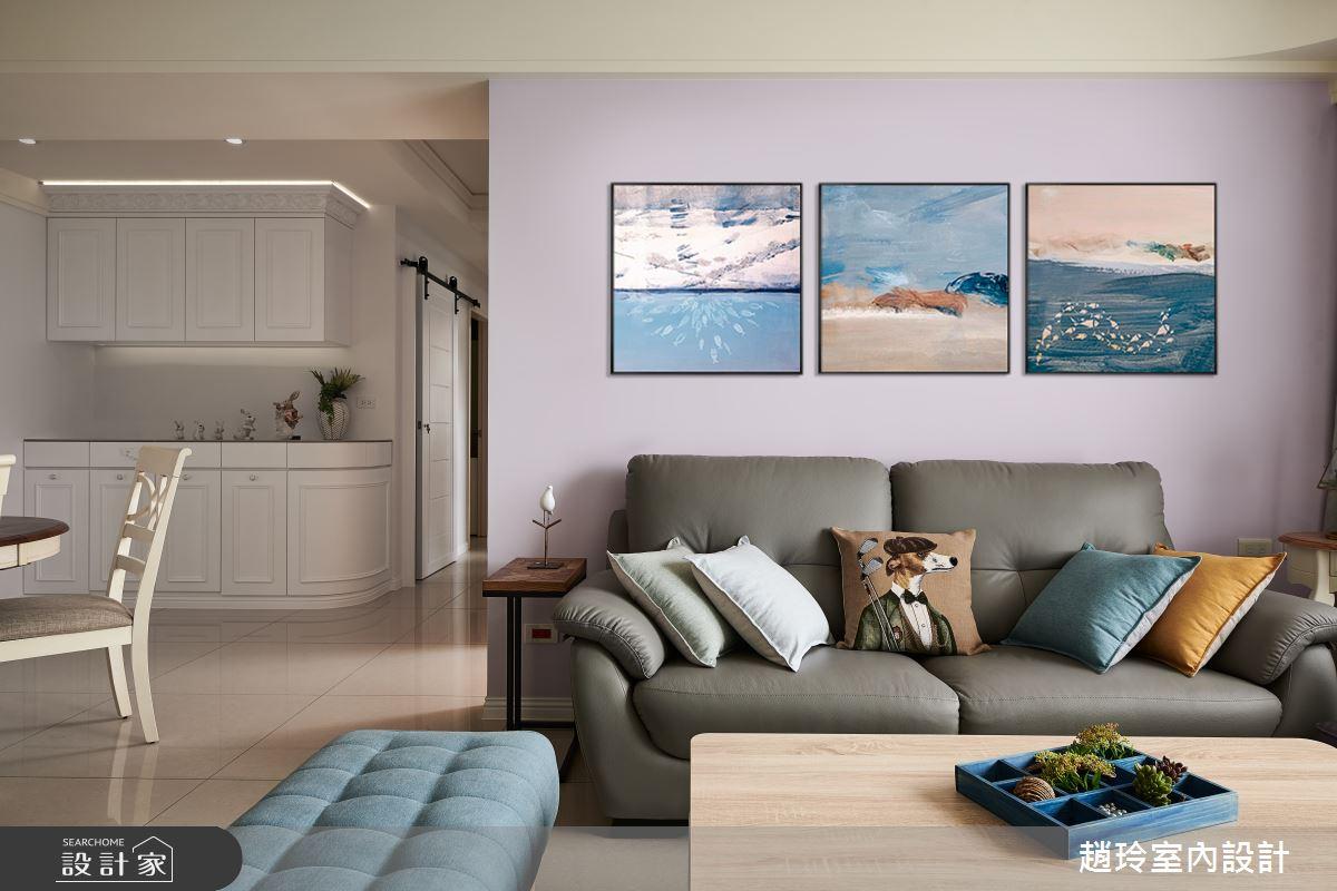 60坪新成屋(5年以下)_新古典客廳案例圖片_趙玲室內設計有限公司_趙玲_61之8