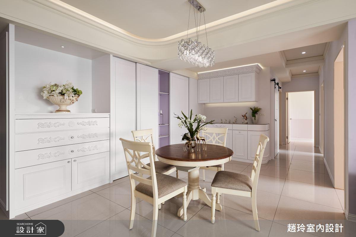 60坪新成屋(5年以下)_新古典餐廳案例圖片_趙玲室內設計有限公司_趙玲_61之6