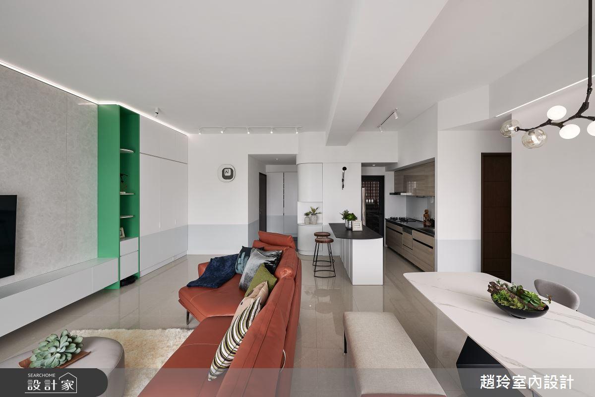 40坪新成屋(5年以下)_現代風客廳案例圖片_趙玲室內設計有限公司_趙玲_62之4