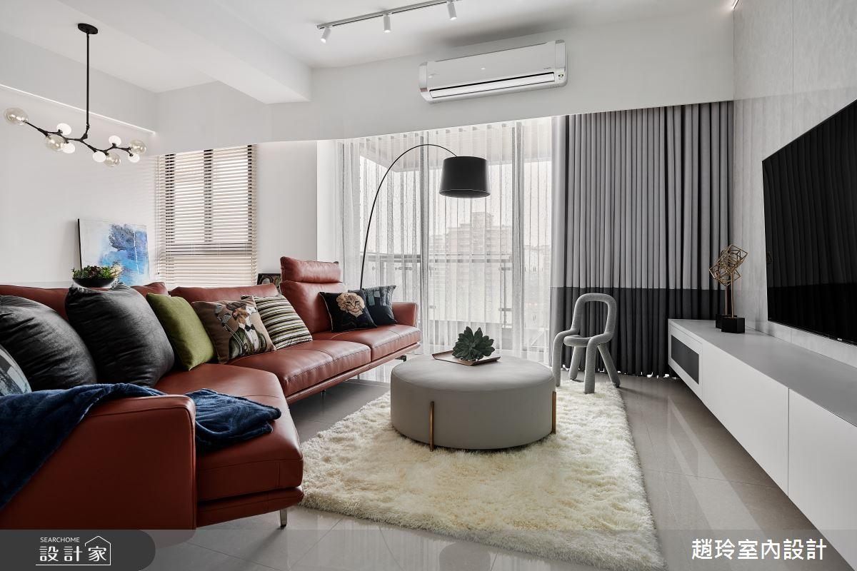 40坪新成屋(5年以下)_現代風客廳案例圖片_趙玲室內設計有限公司_趙玲_62之2