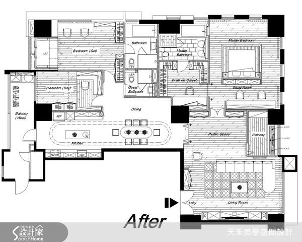 63坪新成屋(5年以下)_鄉村風案例圖片_天禾美學室內裝修設計有限公司_天禾美學_02之16