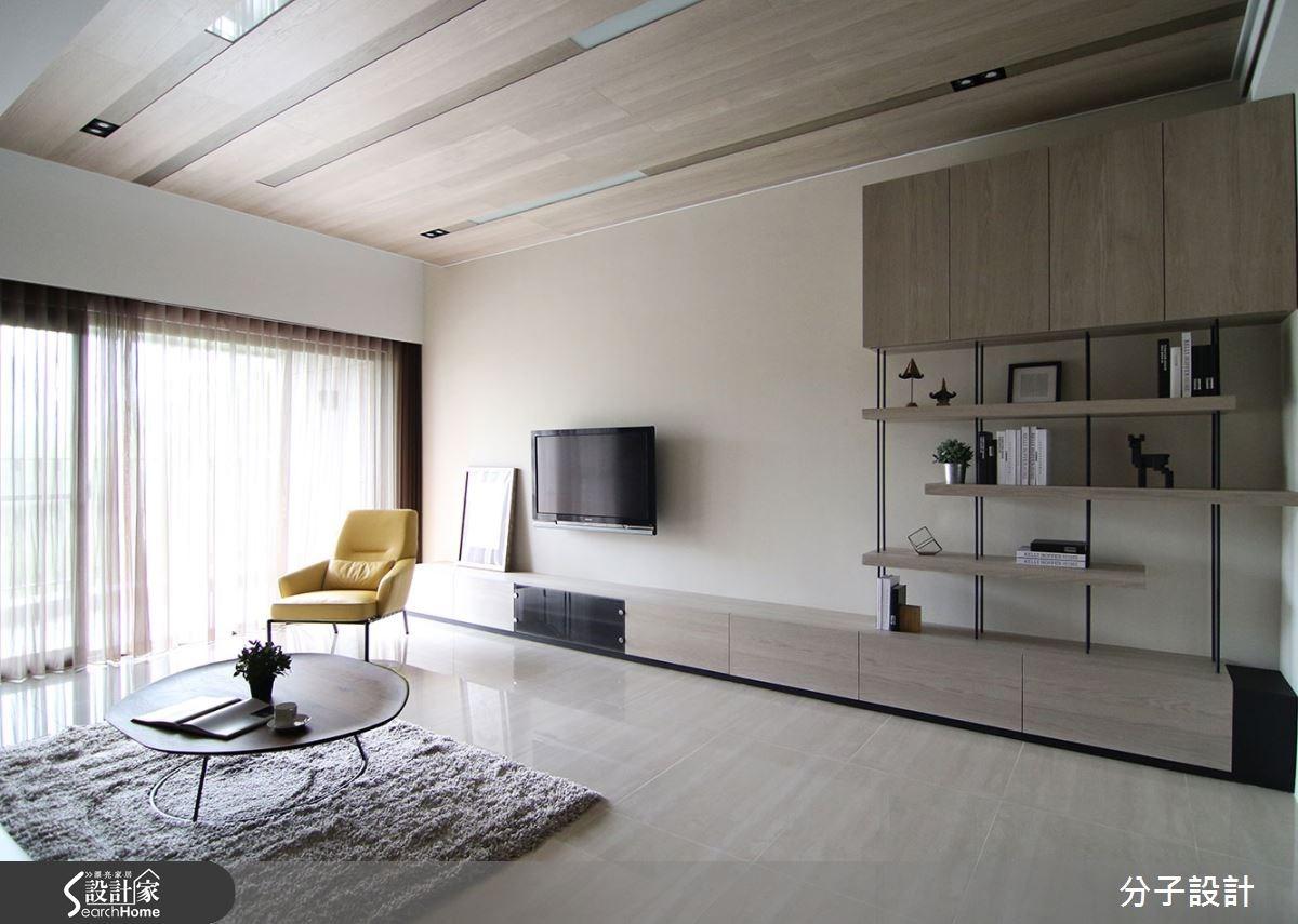40坪新成屋(5年以下)_現代風客廳案例圖片_分子設計_分子_14之1