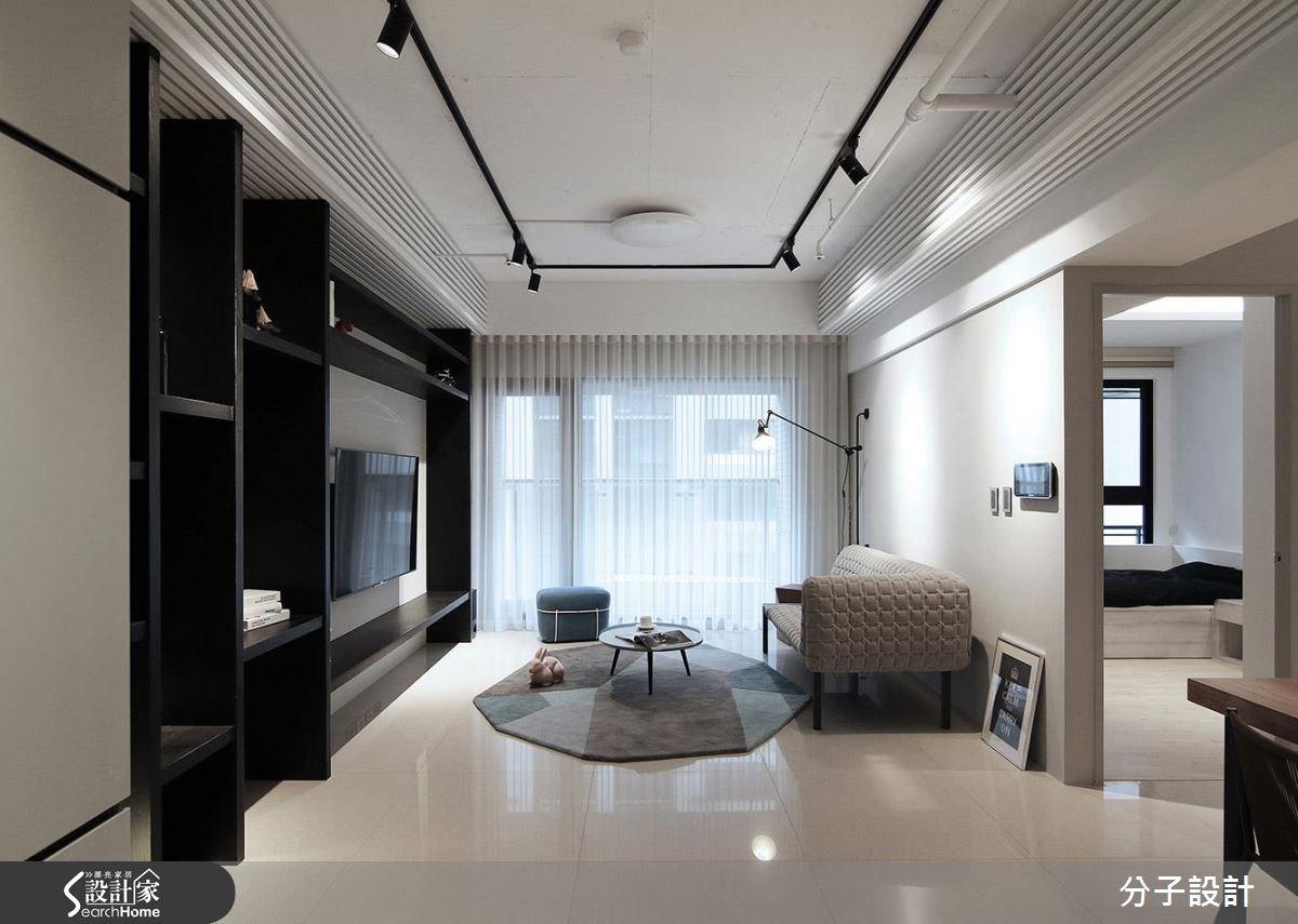 25坪新成屋(5年以下)_簡約風客廳案例圖片_分子設計_分子_20之2