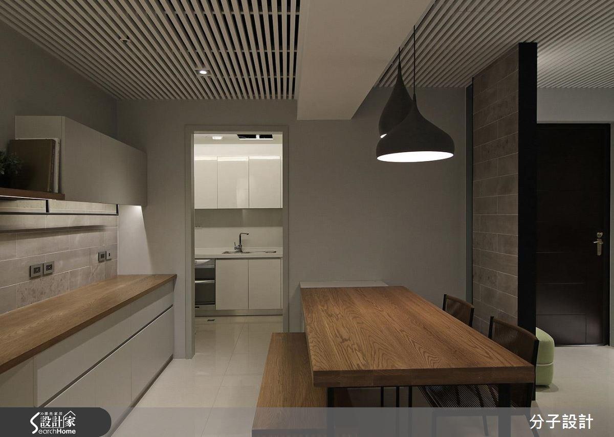 25坪新成屋(5年以下)_簡約風玄關餐廳廚房案例圖片_分子設計_分子_20之3