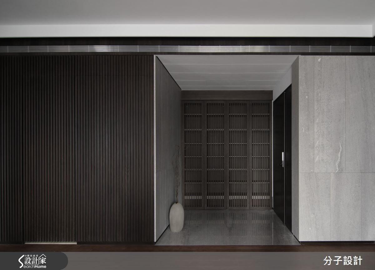 85坪新成屋(5年以下)_人文禪風玄關案例圖片_分子設計_分子_23之2