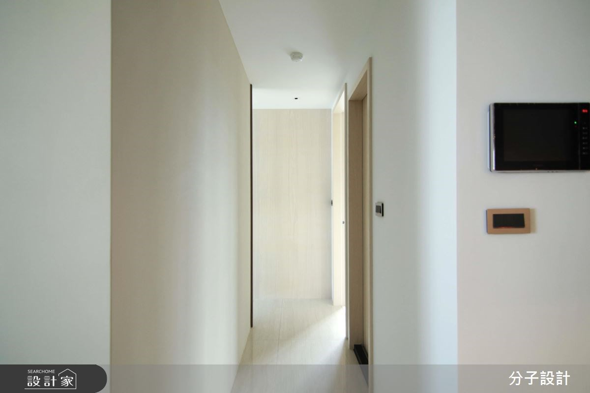 30坪新成屋(5年以下)_簡約風走廊案例圖片_分子設計_分子_31之8