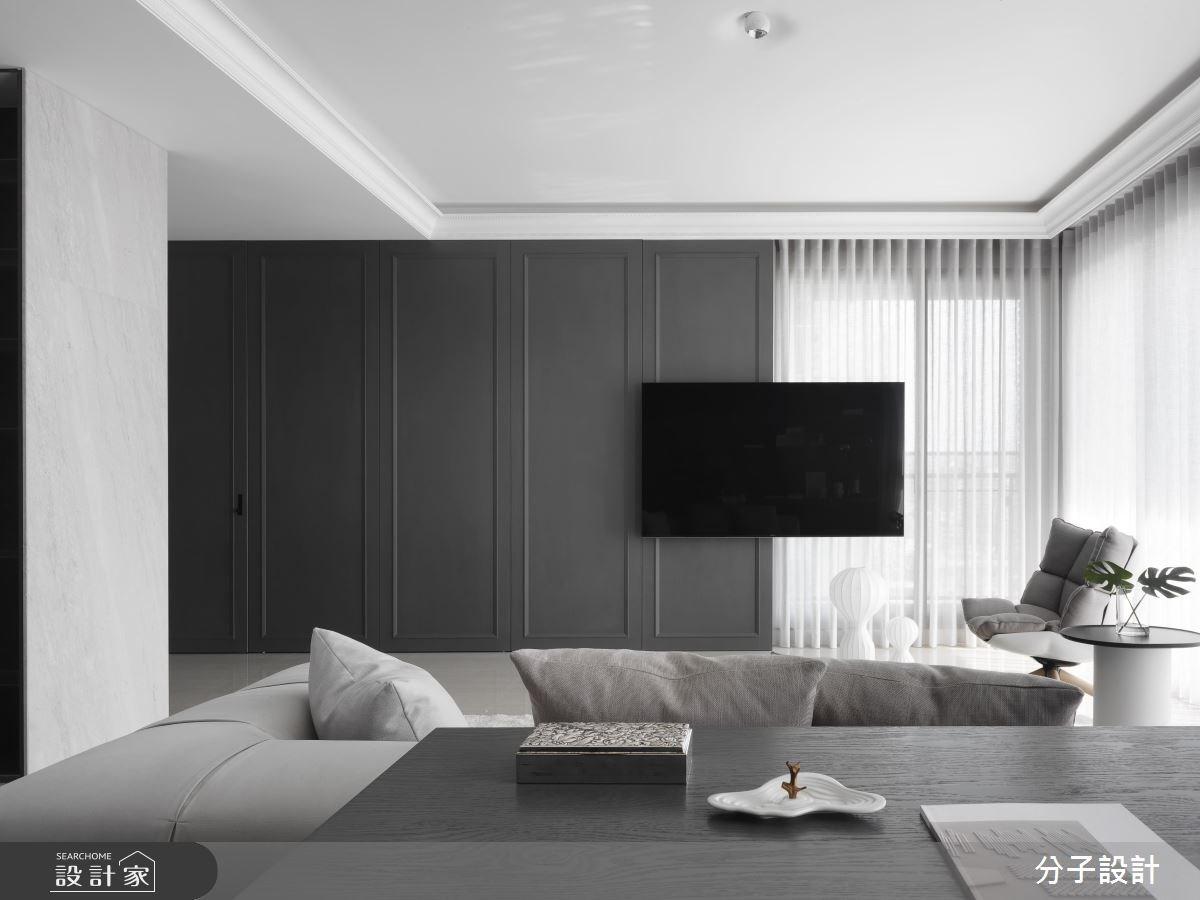 40坪新成屋(5年以下)_現代風客廳案例圖片_分子設計_分子_36之3