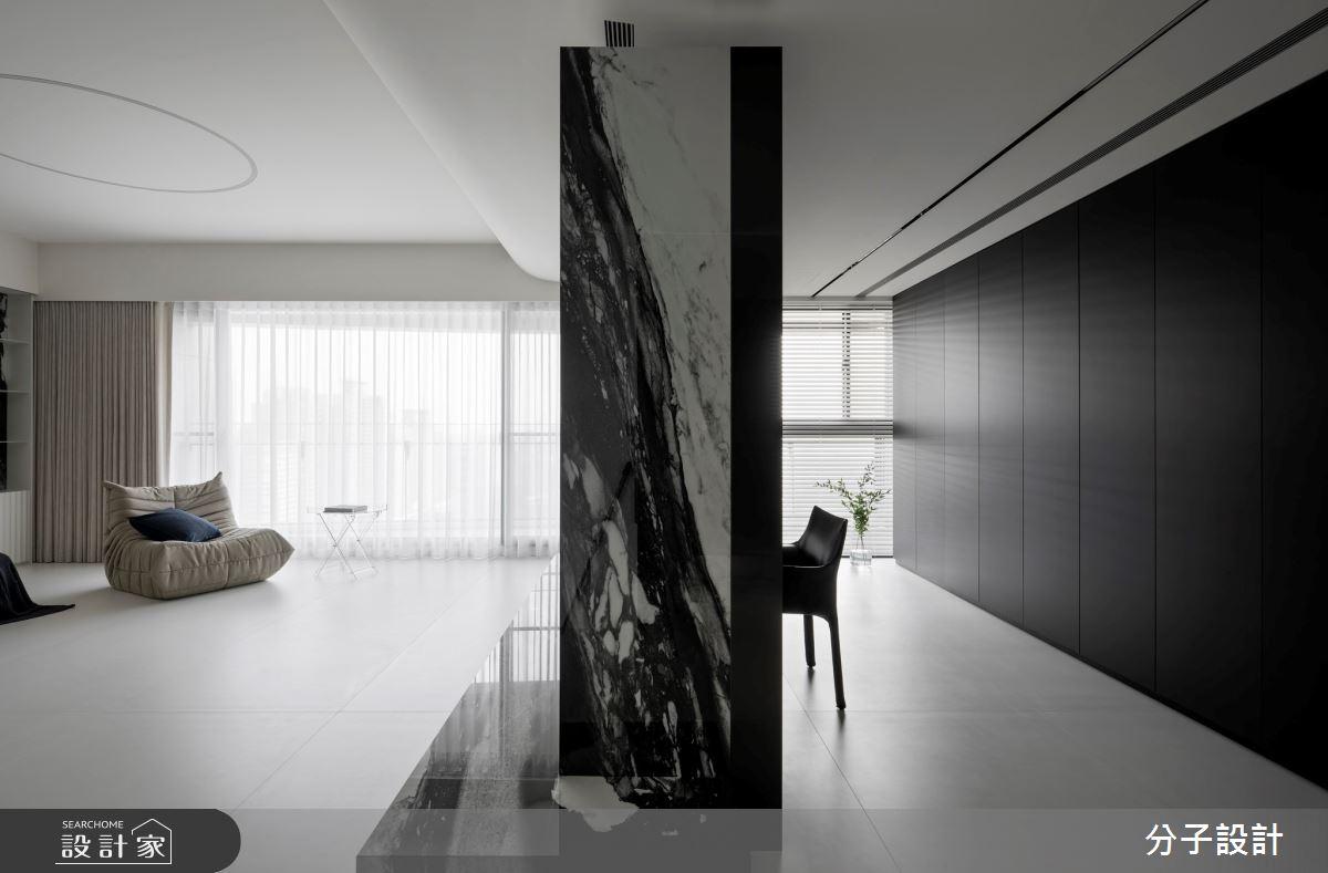 50坪新成屋(5年以下)_現代風客廳工作區案例圖片_分子設計_分子_51之7